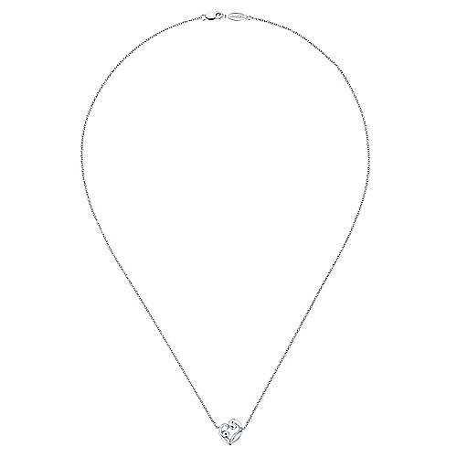 14k White Gold Treasure Chests Mommy And Me Necklace angle 2
