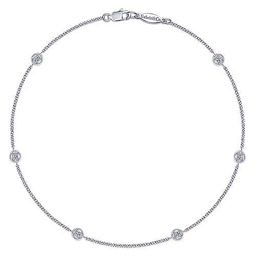 Gabriel - 14k White Gold Trends Chain Ankle Bracelet