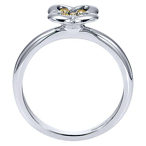 14k White Gold Trends Fashion Ladies' Ring angle 2