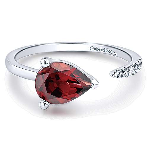 Gabriel - 14k White Gold Trends Fashion Ladies' Ring