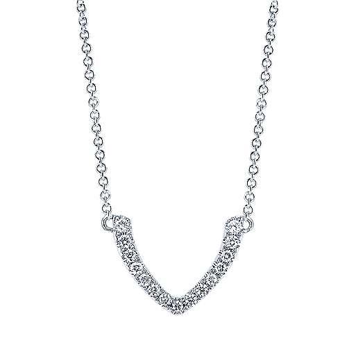 Gabriel - 14k White Gold Trends Fashion Necklace