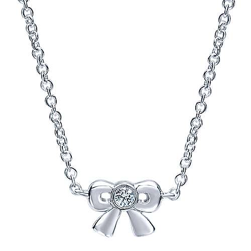14k White Gold Trends Fashion Necklace angle 1
