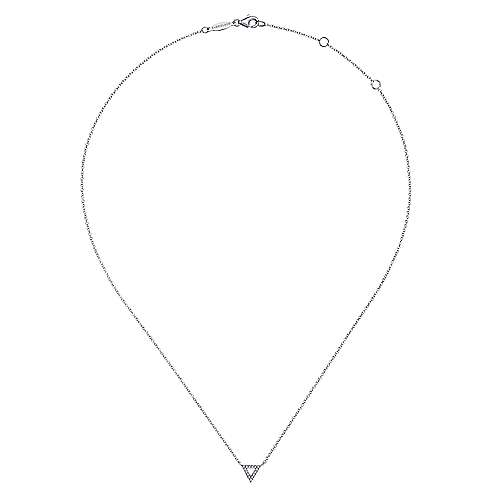 14k White Gold Trends Fashion Necklace angle 2