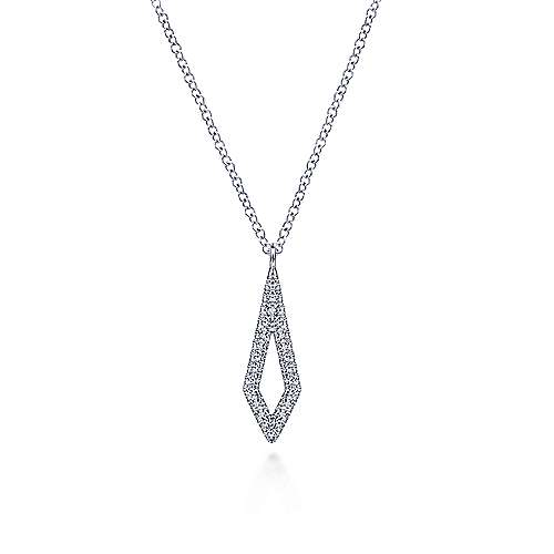 14k White Gold Trends Fashion Necklace