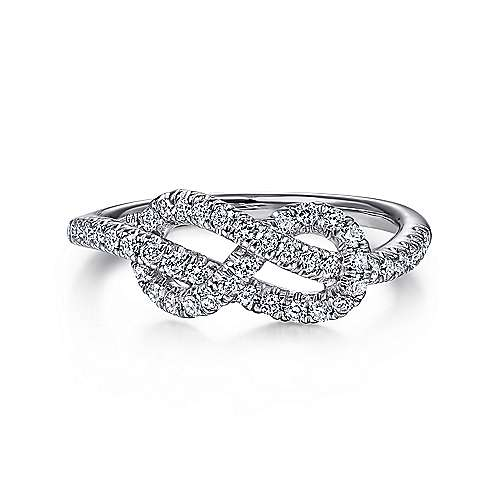 Gabriel - 14k White Gold Twisted Ladies Ring