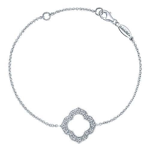14k White Gold Victorian Chain Bracelet