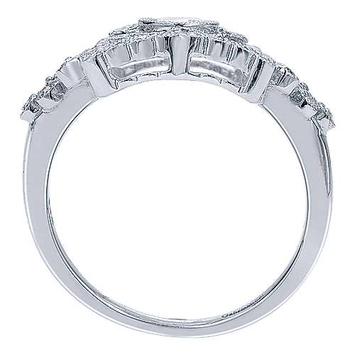 14k White Gold Victorian Classic Ladies' Ring angle 2