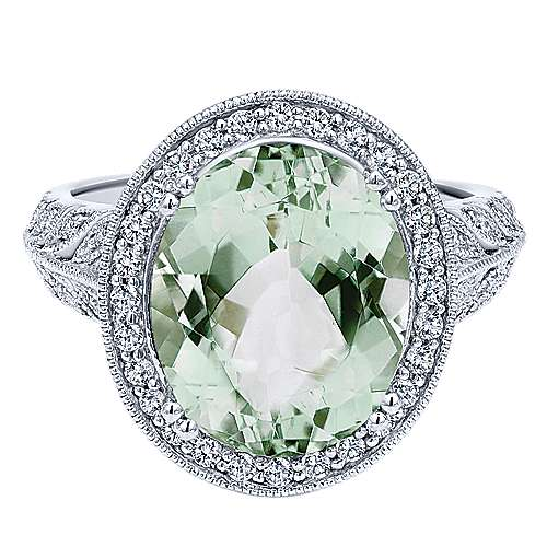 14k White Gold Victorian Classic Ladies' Ring