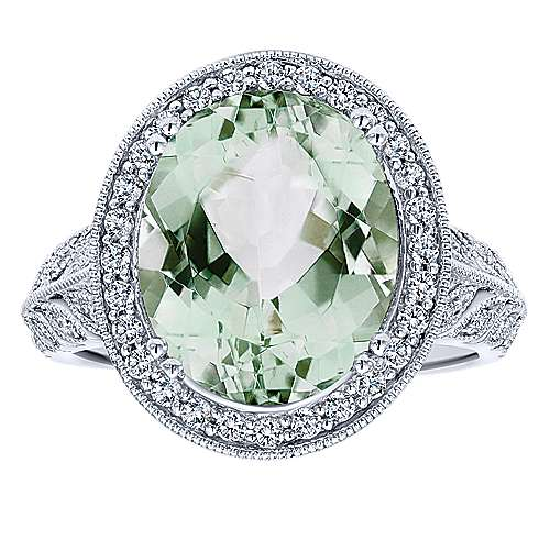 14k White Gold Victorian Classic Ladies' Ring angle 4