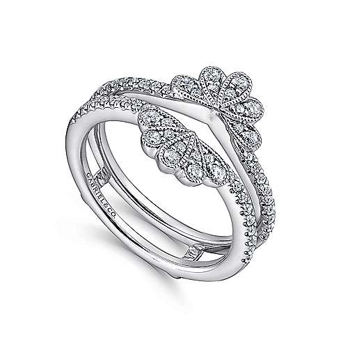 14k White Gold Victorian Enhancer Anniversary Band