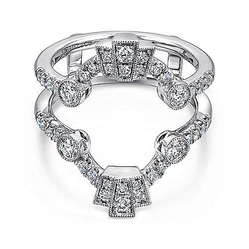 Gabriel - 14k White Gold Victorian Enhancer Anniversary Band
