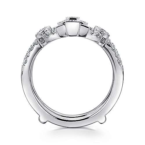 14k White Gold Victorian Enhancer Anniversary Band angle 2