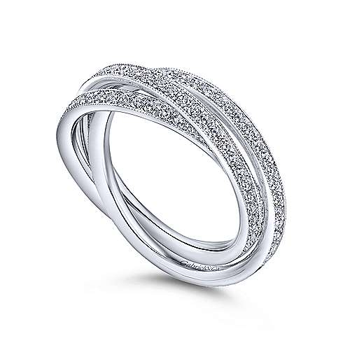 14k White Gold Victorian Eternity Anniversary Band angle 3