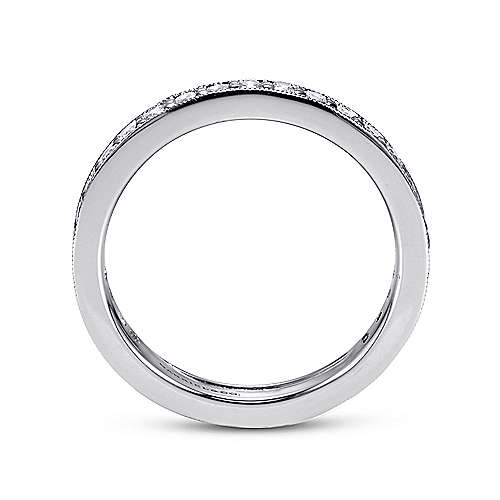 14k White Gold Victorian Eternity Band Anniversary Band angle 2