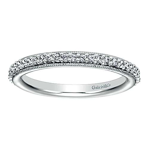 14k White Gold Victorian Eternity Band Anniversary Band angle 5