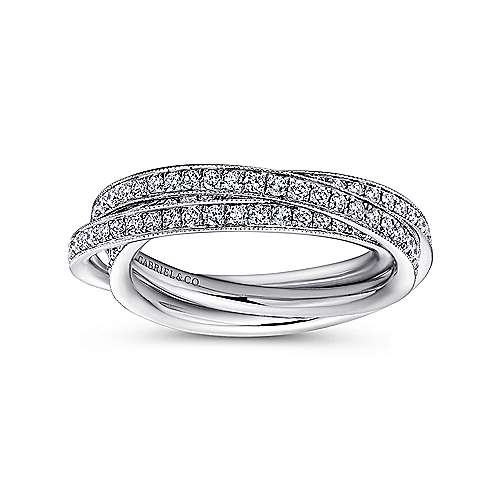 14k White Gold Victorian Eternity Band Anniversary Band angle 4