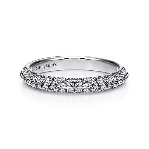 14k White Gold Victorian Fancy Anniversary Band