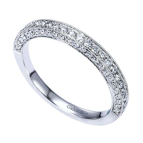 14k White Gold Victorian Fancy Anniversary Band angle 3