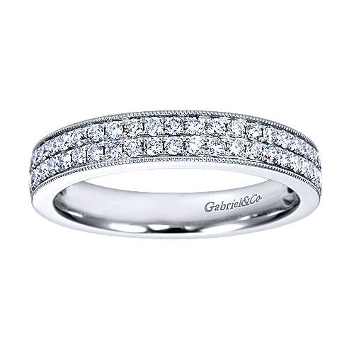 14k White Gold Victorian Fancy Anniversary Band angle 5