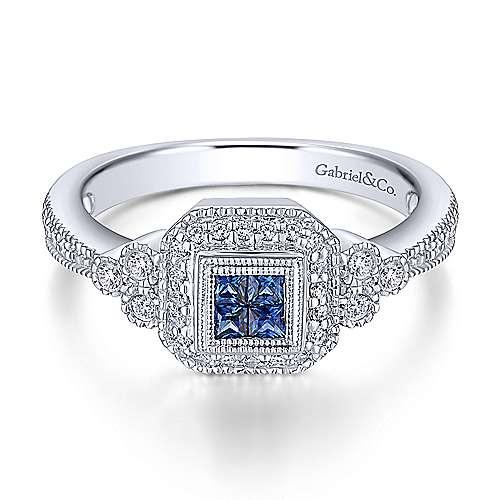 Gabriel - 14k White Gold Victorian Fashion Ladies' Ring