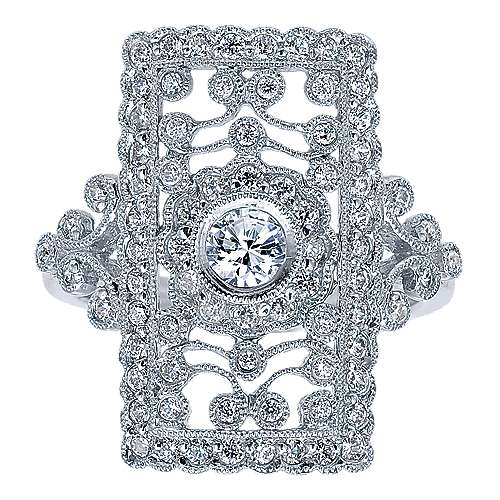 14k White Gold Victorian Fashion Ladies