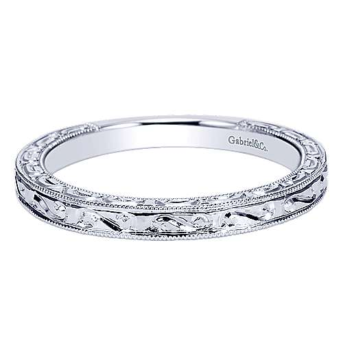 Vintage 14k White Gold  Straight