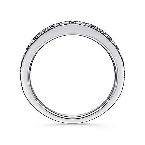 14k White Gold Victorian Straight Wedding Band angle 2