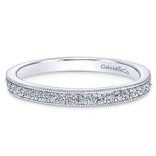 Gabriel - 14k White Gold Wedding Band