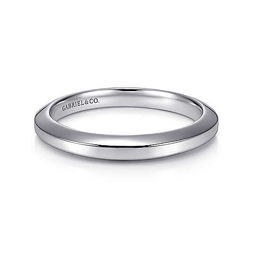 Gabriel - 14k White Gold Contemporary Wedding Band