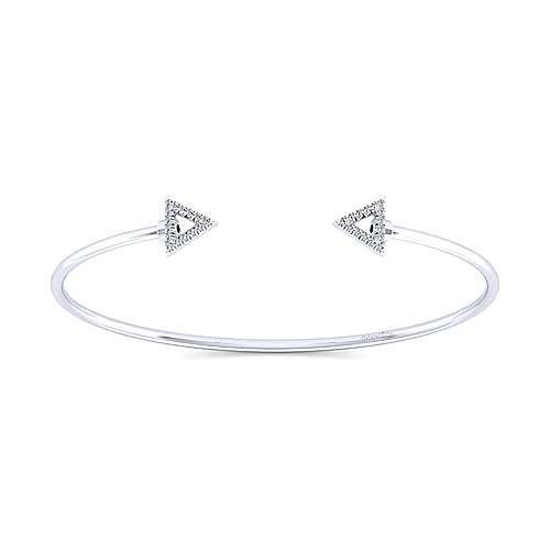Gabriel - 14k White Gold Wire Bangle Bangle