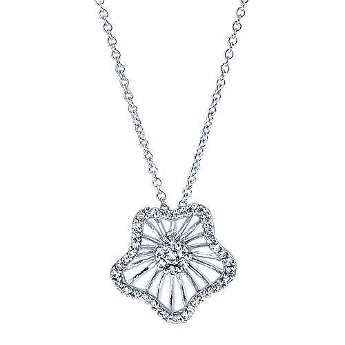 Gabriel - 14k White Gold Wire Fashion Necklace