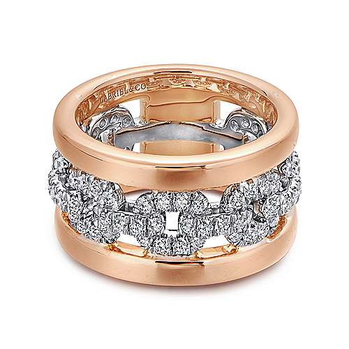 14k White/pink Gold Diamond Fancy