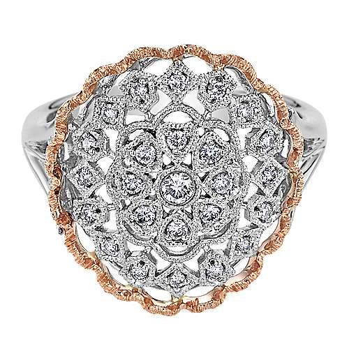 Gabriel - 14k White/pink Gold Victorian Fashion Ladies' Ring