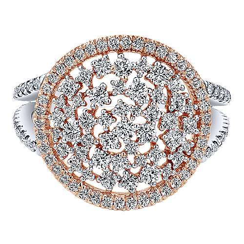 Gabriel - 14k White/pink Gold Lusso Diamond Fashion Ladies' Ring