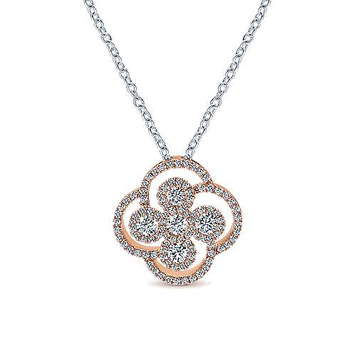 Gabriel - 14k White/pink Gold Lusso Diamond Fashion Necklace