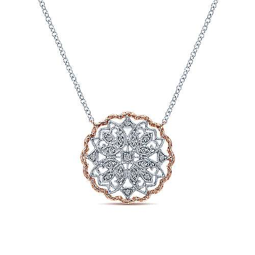 14k White/pink Gold Victorian Fashion
