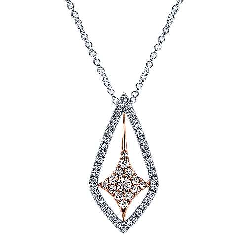 14k White/pink Gold Lusso Diamond Fashion