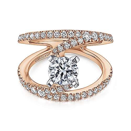Gabriel - 14k White/pink Gold Nova Engagement Ring
