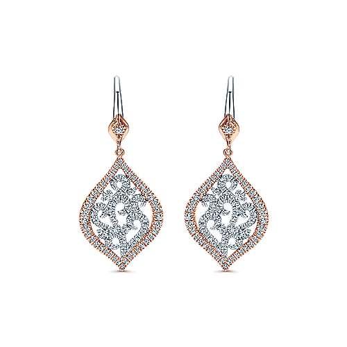 Gabriel - 14k White/pink Gold Flirtation Drop Earrings