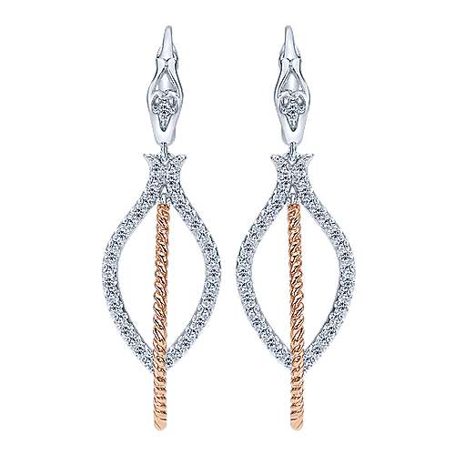 Gabriel - 14k White/pink Gold Hampton Drop Earrings