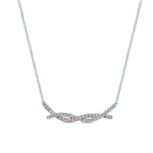 Gabriel - 14k White/pink Gold Indulgence Bar Necklace