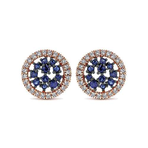 Gabriel - 14k White/pink Gold Lusso Color Stud Earrings