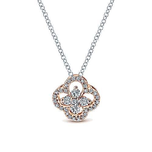 Gabriel - 14k White/pink Gold Lusso Diamond Fashion Necklace