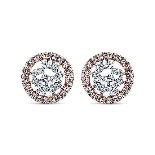 Gabriel - 14k White/pink Gold Lusso Diamond Stud Earrings