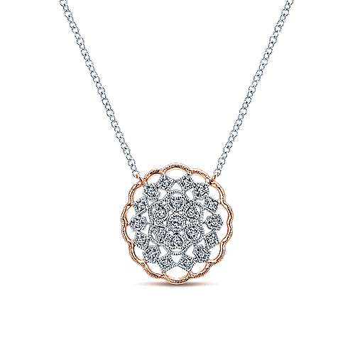 Gabriel - 14k White/pink Gold Victorian Fashion Necklace
