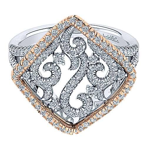 Gabriel - 14k White/rose Gold Flirtation Fashion Ladies' Ring