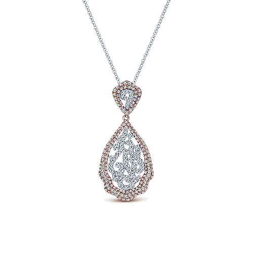 Gabriel - 14k White/rose Gold Flirtation Fashion Necklace