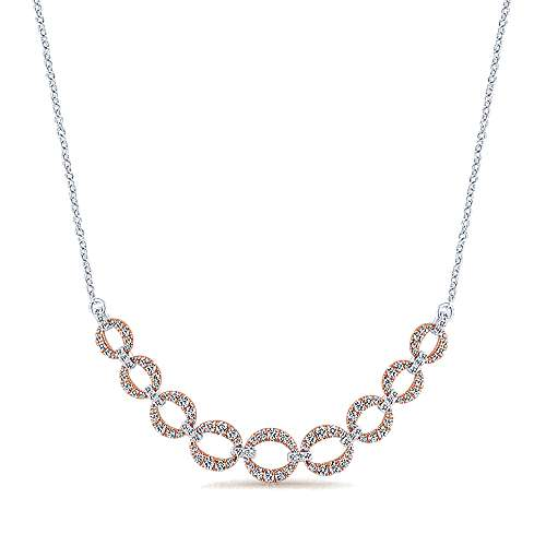 Gabriel - 14k White/rose Gold Lusso Diamond  Fashion Necklace