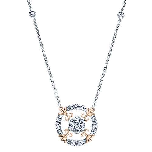 Gabriel - 14k White/rose Gold Lusso Diamond Fashion Necklace