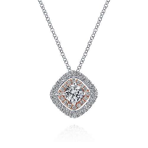Gabriel - 14k White/rose Gold Messier Fashion Necklace